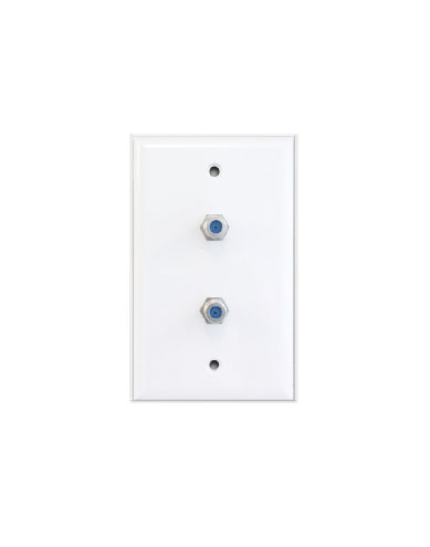 Dual high frequency wall plate white